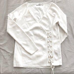 Zara Sweaters - Zara white sweater